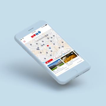 réalisation de l'Ux et Ui design pour l'application Nohô