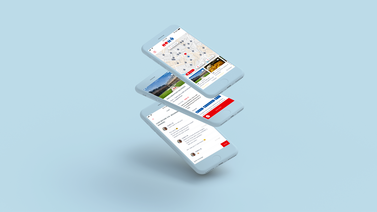 UX design et UI design pour l'application mobile Nohô