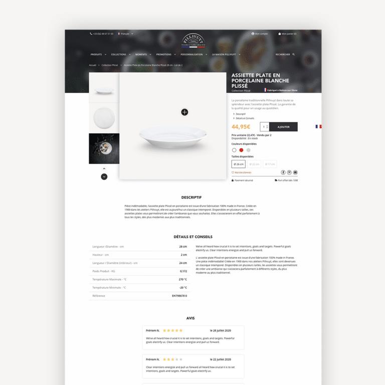 UX et UI Design pour le site e-commerce